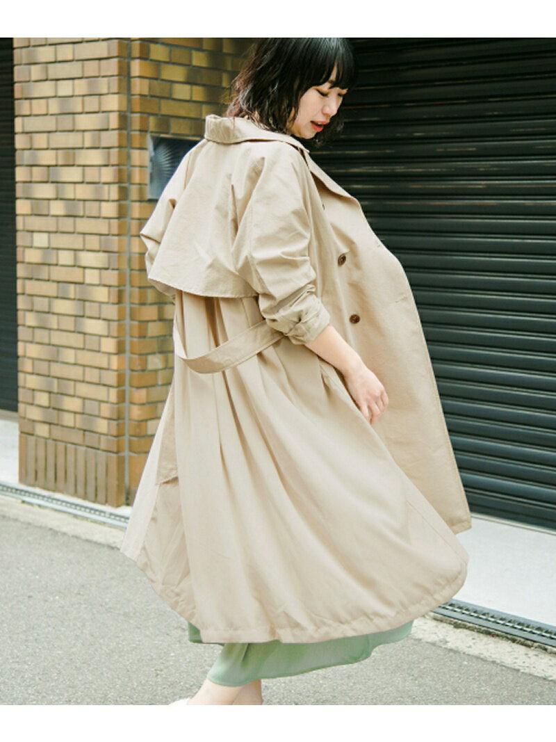 KBF KBF+ バックレイヤードトレンチコート ケービーエフ コート/ジャケット【送料無料】