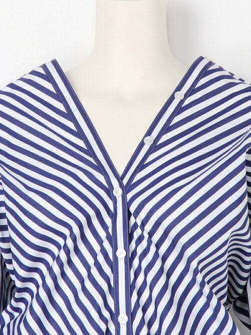 typewriter stripebias shirt blouse