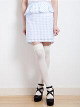 Gingham Check Frill Skirt