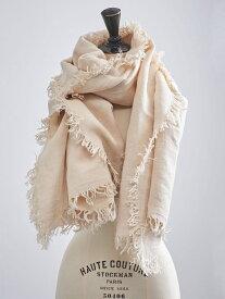 UNITED ARROWS <ASAUCE MELER(アソース メレ)>リネン フリンジ ストール ユナイテッドアローズ ファッショングッズ ストール ホワイト ブラック グレー ブラウン【送料無料】