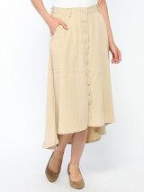 (W)テンセルフロントボタンスカート(日本限定)