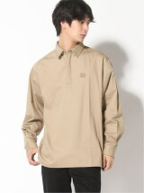 (M)Happy Tiger Crest Twill Pullover Shirt M