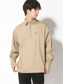 KENZO (M)Happy Tiger Crest Twill Pullover Shirt M ケンゾー シャツ/ブラウス 長袖シャツ ベージュ【送料無料】