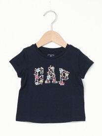【SALE/25%OFF】GAP (K)Gapロゴtシャツ (幼児) ギャップ カットソー キッズカットソー ネイビー