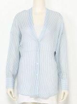 [Cl]ノーカラーデザインシャツ
