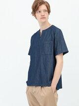 デニム布帛Tシャツ