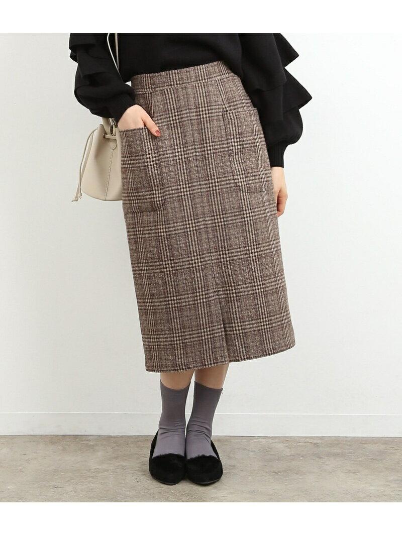 【SALE/30%OFF】ROPE' PICNIC グレンチェックポケット付スカート ロペピクニック スカート【RBA_S】【RBA_E】