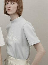 diorama span mock neck T-shirt