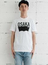 バットウィングTシャツ-Osaka Destination/ホワイト