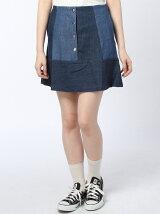 裾切替え前開きスカート