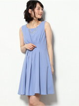 【WEDDINGS&PARTIES】ネックレス付タックドレス