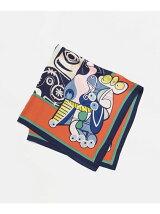 キュービズム柄スカーフ2