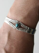 【ブレスレット】A Man of ULTRA Turquoise Bangle
