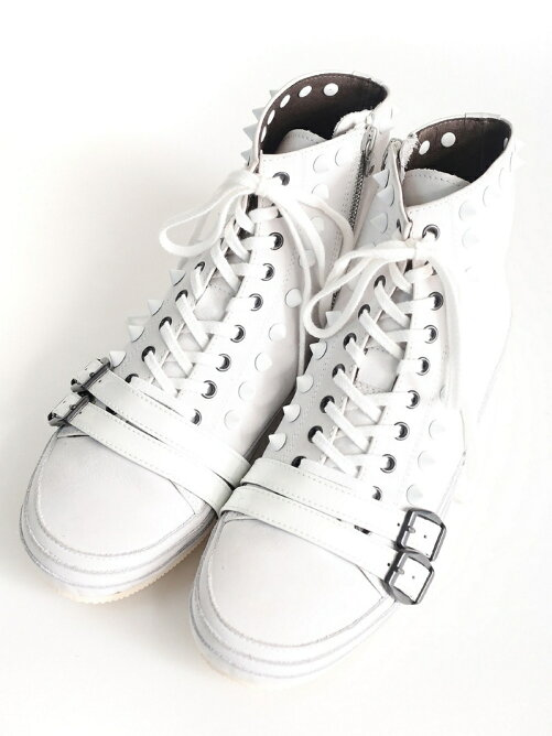 HIGH CUT LEATHER SNEAKER