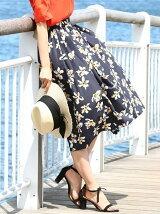 【Oggi7月号掲載】オリジナルフラワープリントスカート