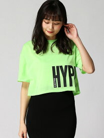 【SALE/36%OFF】ANAPネオンカラープリントクロップドTシャツ アナップ カットソー【RBA_S】【RBA_E】