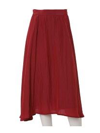 ef-de L size 《大きいサイズ》フレアロングスカート【ef-de】 エフデ エルサイズ スカート フレアスカート ピンク グリーン【送料無料】