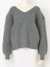DOUBLE FACE CROSS KNIT TOPS