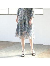 Liliane Burty ECLAT イタリア製カットジャカード スカート【セットアップ可】 リリアンビューティ エクラ スカート スカートその他 ブルー オレンジ【送料無料】