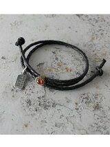 【ブレスレット】A MAN of ULTRA Old Native Style Stone Setting Round Braid Bracelet