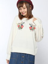 【RETRO GIRL】胸刺繍 2WAY ニットソー