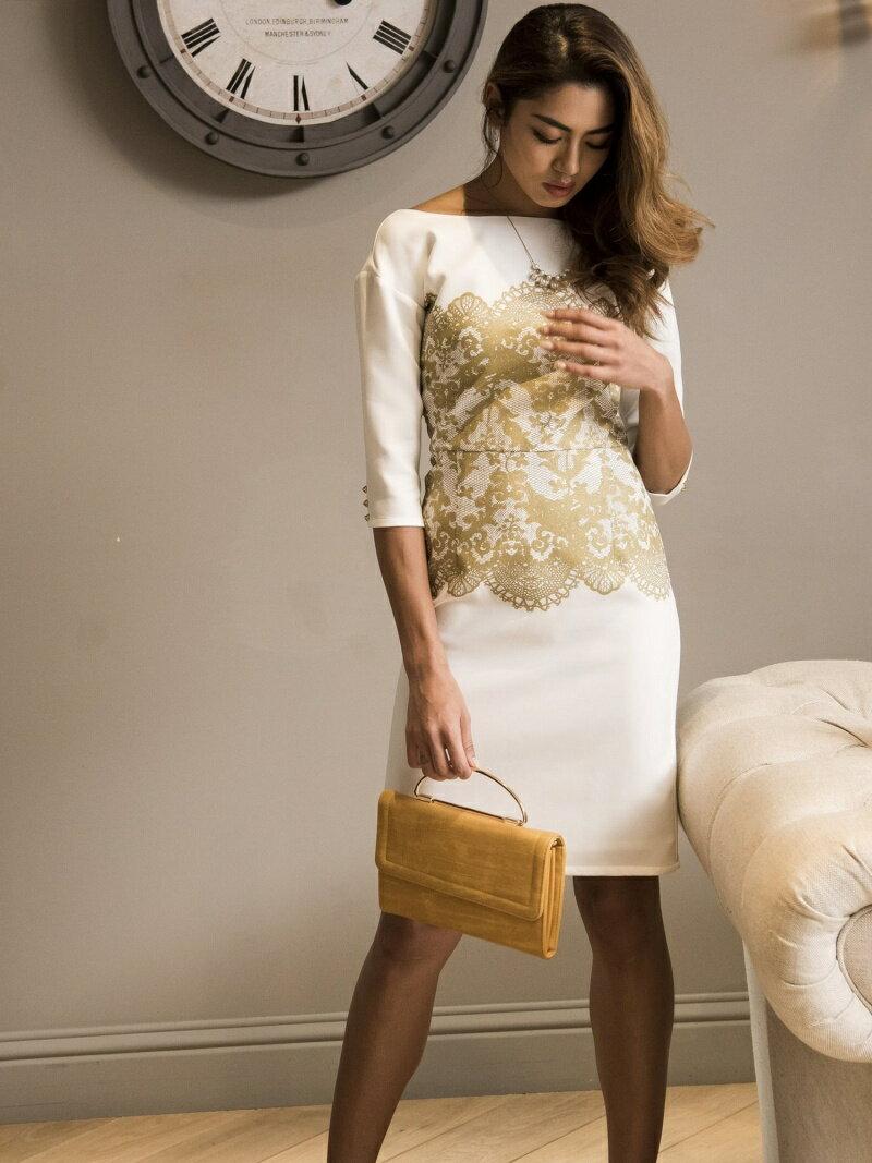 Million Carats 箔レースプリントワンピース[DRESS/ドレス] ミリオンカラッツ ワンピース【送料無料】