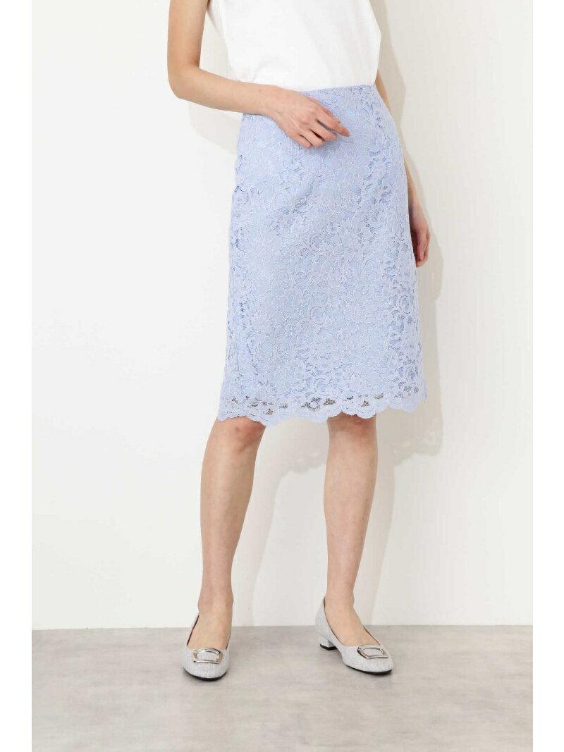 NATURAL BEAUTY BASIC [WEB限定]スカラレースタイトスカート ナチュラルビューティベーシック スカート【送料無料】