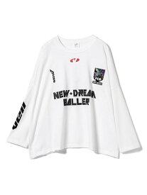 【SALE/50%OFF】Ray BEAMS VEIL × Ray BEAMS / 別注 New Dream Baller FCD ビームス ウイメン カットソー Tシャツ ブルー ホワイト ブラック【送料無料】