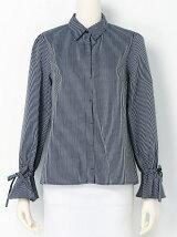 Techichi/ストライプ袖リボンシャツ