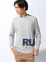 RUSTY/(M)裾ロゴプリントロンT