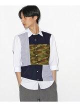 【限定】カモパッチワーク7分袖シャツ