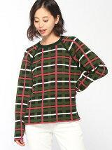 チェックジャガードセーター (長袖)