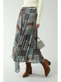 【SALE/30%OFF】ROSE BUD アシメトリープリーツスカート ローズバッド スカート スカートその他 ベージュ ネイビー【送料無料】