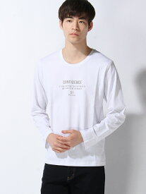 【SALE/53%OFF】SPENDY'S Store ロゴプリントロングTシャツ スペンディーズストア カットソー Tシャツ ホワイト