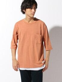 【SALE/25%OFF】BAYFLOW (M)5ブソデレイヤーT ベイフロー カットソー Tシャツ オレンジ カーキ グレー ベージュ