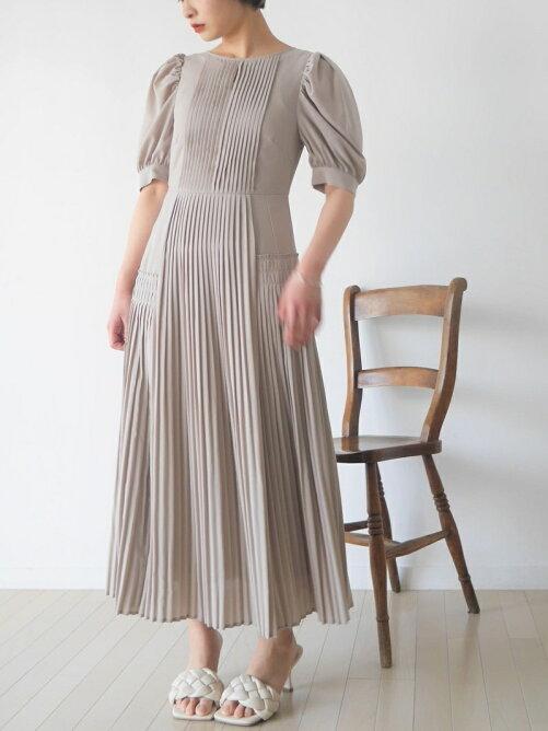 アシメプリーツドレス(オケージョン)