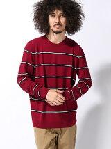 鹿の子ボーダーセーター (長袖)