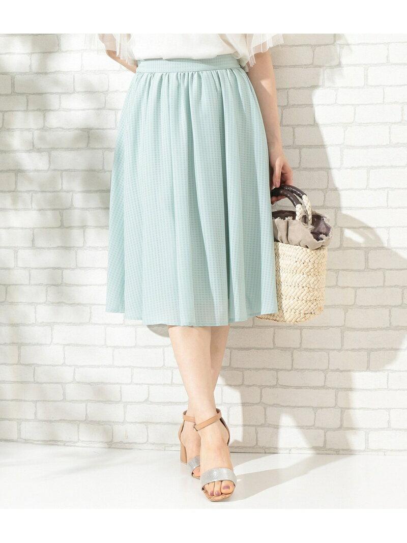【SALE/34%OFF】ROPE' PICNIC シアーチェックギャザースカート ロペピクニック スカート【RBA_S】【RBA_E】
