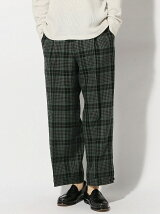 THE COMMON TEMPO/(M)WOOL CHECK WIDE PANTS