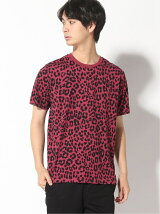 (M)Guepard Print Overdyed Tee M