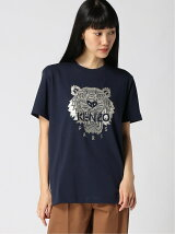 (W)Stitched Tiger Loose Fet Tee W