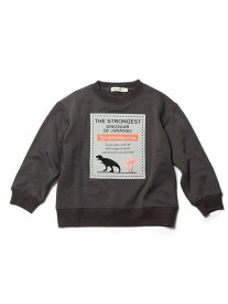 【SALE/32%OFF】SHOO・LA・RUE 【90-130cm】裏シャギーロゴフロッキー恐竜トレーナー シューラルー カットソー スウェット グレー グリーン ブラウン