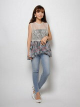 resort flower lace combi tank