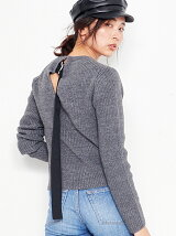Suede Ribon Knit Pul