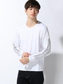 【SALE/53%OFF】SPENDY'S Store 袖プリントロングTシャツ スペンディーズストア カットソー Tシャツ ホワイト