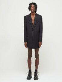 DRESSEDUNDRESSED Back Organza Layered Shawl Collar Blazer シーナウトウキョウ コート/ジャケット テーラードジャケット ブラック【送料無料】