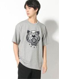 KENZO (M)Varsity Tiger Oversized Tee M ケンゾー カットソー Tシャツ グレー ブラック【送料無料】