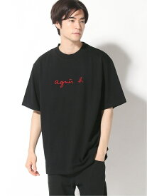agnes b. HOMME agnes b. HOMME/(M)K276 ロゴTシャツ アニエスベー カットソー Tシャツ ブラック【送料無料】