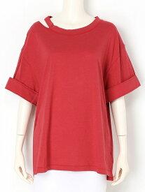 【SALE/47%OFF】styling/ ベーシックTシャツ スタイリング カットソー Tシャツ レッド グレー カーキ ネイビー【送料無料】