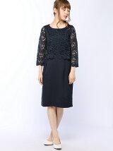 flexin/(W)レースドッキングワンピースドレス